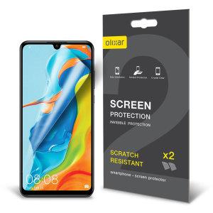 Protégez et maintenez l'écran de votre Huawei P30 Lite en parfait état grâce au film protecteur anti-rayures Olixar. Ce pack comprend 2 protections d'écran Huawei P30 Lite.