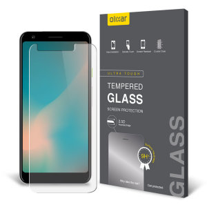 Olixar Google Pixel 3a XL Tempered Glas Displayschutz