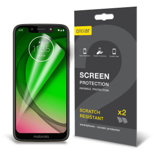 Keep your Motorola Moto G7 Play screen in pristine condition with this Olixar scratch-resistant screen protector 2-in-1 pack. Ultra responsive and easy to apply, these screen protectors are the ideal way to keep your display looking brand new.