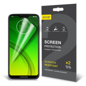 Keep your Motorola Moto G7 Power screen in pristine condition with this Olixar scratch-resistant screen protector 2-in-1 pack. Ultra responsive and easy to apply, these screen protectors are the ideal way to keep your display looking brand new.