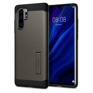 The Slim Armor case for the Huawei P30 Pro in gun metal has shock absorbing technology specifically incorporated to protect the device from impacts from any angle.