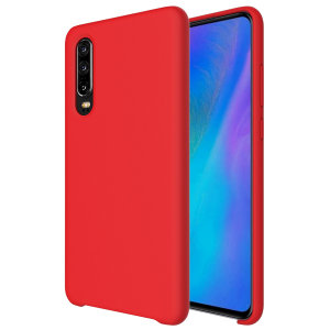 Custom moulded for the Huawei P30, this red soft silicone case from Olixar provides excellent protection against damage as well as a slimline fit for added convenience.