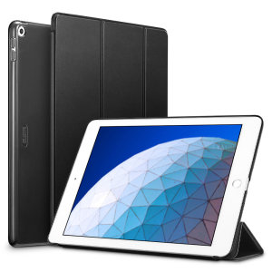 Protect your iPad Air 2019 with this supremely functional Black case with viewing stand feature. Also features smart sleep / wake functionality.