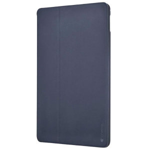 Comma iPad Mini 2019 Leather-Style Smart Folio Cover Case - Dark Blue