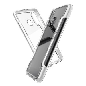 The X-Doria Defense clear with a White frame and clear back is an incredibly stylish and protective case for your Huawei P30 Lite. Tested to survive 10ft drops onto concrete the Defense Clear provides excellent protection.