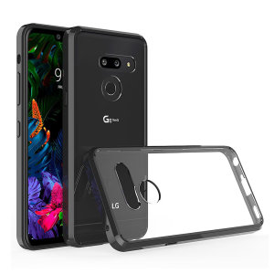 Custom moulded for the LG G8. This black Olixar ExoShield tough case provides a slim fitting stylish design and reinforced corner shock protection against damage, keeping your device looking great at all times.