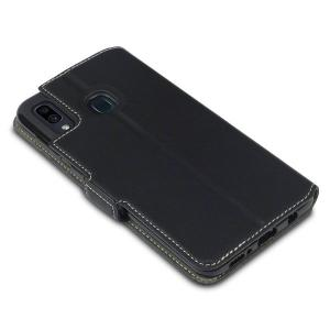 Olixar Samsung Galaxy A30 Low Profile PU Leather Wallet Case - Black