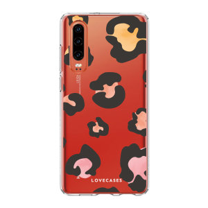 LoveCases Huawei P30 Gel Case - Colourful Leopard