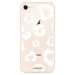 Coque iPhone 8 LoveCases Traces de léopard – Transparent