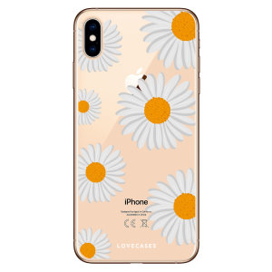 LoveCases iPhone XS Max Daisy - Clear White