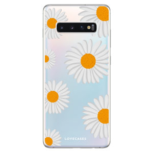 LoveCases Samsung S10 Plus Daisy Case - White..