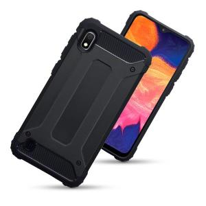 Protect your Samsung Galaxy A10 from bumps and scrapes with this black Delta Armour case from Olixar. Comprised of an inner TPU section and an outer impact-resistant exoskeleton.