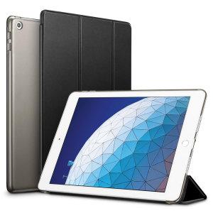 Proteggi il tuo iPad Air 2019 con questa custodia trasparente e nera estremamente funzionale con supporto di visualizzazione. Dispone anche di funzioni intelligenti di sonno / sveglia.
