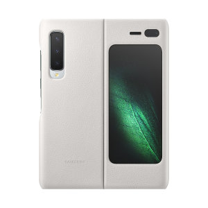 This Official Samsung Genuine Leather Cover Case in White is the perfect way to keep your Galaxy Fold smartphone protected. The Leather Cover wraps your Galaxy Fold in luxury premium calfskin leather ensure supreme style with ultra protection.