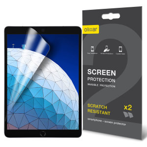 Keep your iPad Air 2019 screen in pristine condition with this Olixar scratch-resistant screen protector 2-in-1 pack. Ultra responsive and easy to apply, these screen protectors are the ideal way to keep your display looking brand new.