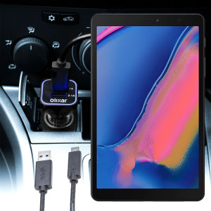 Keep your Samsung Galaxy Tab A 8.0 2019 fully charged on the road with this compatible Olixar high power dual USB 3.1A Car Charger with an included high quality  1m USB to USB-C charging cable.