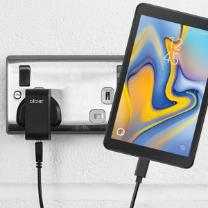 Charge your Samsung Galaxy Tab A 8.0 2019 and any other USB device quickly and conveniently with this compatible 2.5A high power USB-C UK charging kit. Featuring a UK wall adapter and a 1m USB-C cable.