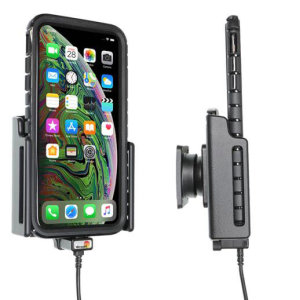 Use your iPhone XS Max safely in your vehicle with this small, neat and discreet Brodit Passive holder 721084. Its design means that the car holder will nicely blend in with your car's interior. This product also comes with an Apple-approved charger.