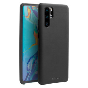 Olixar Genuine Leather Huawei P30 Pro Case - Black