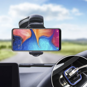 Essential items you need for your smartphone during a car journey all within the Olixar DriveTime In-Car Pack. Featuring a robust one-handed phone car mount and car charger with an additional USB-C port for your Samsung Galaxy A20.