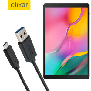 Make sure your Samsung Galaxy Tab A 10.1 2019 is always fully charged and synced with this compatible USB 3.1 Type-C Male To USB 3.0 Male Cable. You can use this cable with a USB wall charger or through your desktop or laptop.