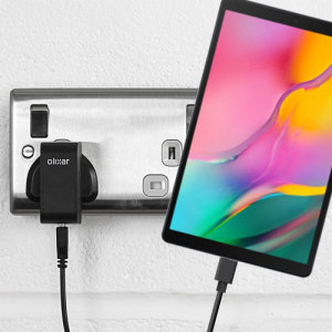 Charge your Samsung Galaxy Tab A 10.1 2019 and any other USB device quickly and conveniently with this compatible 2.5A high power USB-C UK charging kit. Featuring a UK wall adapter and a 1m USB-C cable.