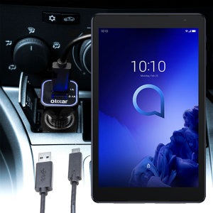 Keep your Alcatel 3T 10 fully charged on the road with this compatible Olixar high power dual USB 3.1A Car Charger with an included high quality USB to Micro-USB charging cable.