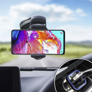 Essential items you need for your smartphone during a car journey all within the Olixar DriveTime In-Car Pack. Featuring a robust one-handed phone car mount and car charger with an additional USB port for your Samsung Galaxy A70.