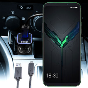 Keep your Xiaomi Black Shark 2 fully charged on the road with this compatible Olixar high power dual USB 3.1A Car Charger with an included high quality  1m USB to USB-C charging cable.