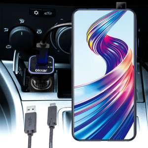 Keep your Vivo V15 Pro fully charged on the road with this compatible Olixar high power dual USB 3.1A Car Charger with an included high quality USB to Micro-USB charging cable.