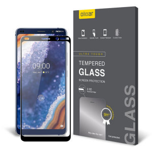 This tempered glass screen protector for the Nokia 9 Pureview from Olixar offers toughness, high visibility and sensitivity all in one package. Black edges match the black fascia of your phone perfectly.
