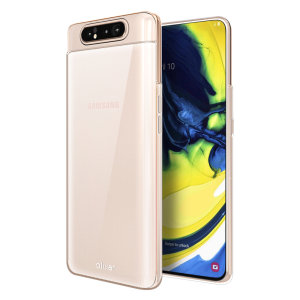Custom moulded for the Samsung Galaxy A80. This clear Olixar FlexiShield case provides a slim fitting stylish design and durable protection against damage, keeping your device looking great at all times.