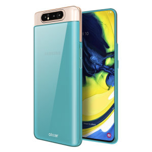 Custom moulded for the Samsung Galaxy A80, this blue FlexiShield case by Olixar provides slim fitting and durable protection against damage.