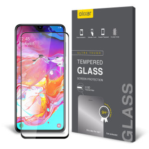 This ultra-thin tempered glass screen protector for the Samsung Galaxy A70 from Olixar offers toughness, high visibility and sensitivity all in one package.