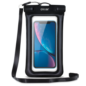 The Olixar Action Universal Waterproof Case for the iPhone XR is a protective case providing 100% waterproofing and touchscreen operation for your iPhone for activities that require near water or even underwater adventures.