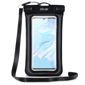 The Olixar Action Universal Waterproof Case for the Huawei P30 Pro is a protective case providing 100% waterproofing and touchscreen operation for your iPhone for activities that require near water or even underwater adventures.