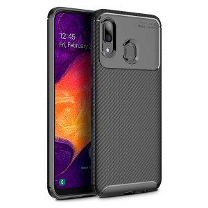Olixar Carbon Fibre Samsung Galaxy A30 Case - Black