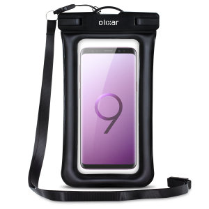 The Olixar Action Universal Waterproof Case for the Samsung Galaxy S9 is a protective case providing 100% waterproofing and touchscreen operation for your iPhone for activities that require near water or even underwater adventures.