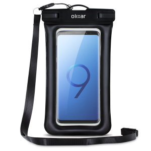 The Olixar Action Universal Waterproof Case for the Samsung Galaxy S9 Plus is a protective case providing 100% waterproofing and touchscreen operation for your iPhone for activities that require near water or even underwater adventures.