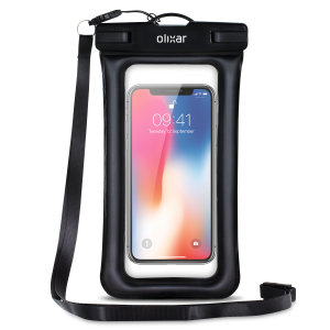 The Olixar Action Universal Waterproof Case for the iPhone X is a protective case providing 100% waterproofing and touchscreen operation for your iPhone for activities that require near water or even underwater adventures.