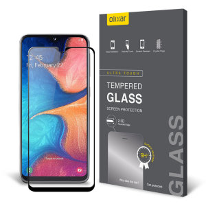 This ultra-thin tempered glass screen protector for the Samsung Galaxy A20e from Olixar offers toughness, high visibility and sensitivity all in one package.