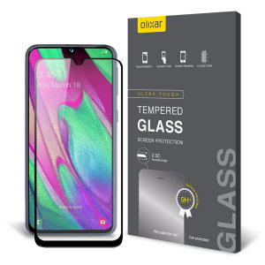 This ultra-thin tempered glass screen protector for the Samsung Galaxy A40 from Olixar offers toughness, high visibility and sensitivity all in one package.