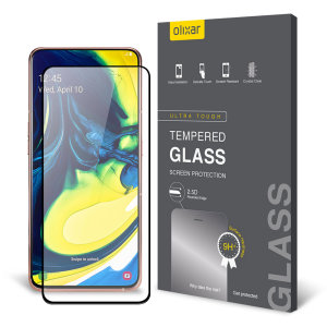 This ultra-thin tempered glass screen protector for the Samsung Galaxy A80 from Olixar offers toughness, high visibility and sensitivity all in one package.