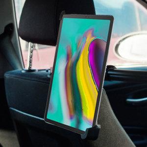 Questo supporto da auto Galaxy Tab S5e fisserà il vostro dispositivo ai poggiatesta della vostra auto, permettendovi di posizionare facilmente un tablet per guardare film o giocare comodamente seduti sul sedile posteriore.