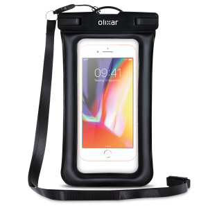 The Olixar Action Universal Waterproof Case for the iPhone 8 Plus is a protective case providing 100% waterproofing and touchscreen operation for your iPhone for activities that require near water or even underwater adventures.