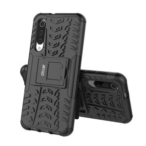 Protect your Samsung Galaxy A50 from bumps and scrapes with this black ArmourDillo case from Olixar. Comprised of an inner TPU case and an outer impact-resistant exoskeleton, with a built-in viewing stand.