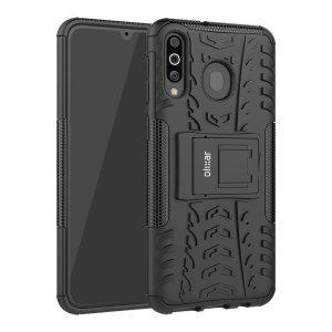 Beskyt din Samsung Galaxy A40S mod stød og ridser med dette sorte ArmourDillo-etui fra Olixar. Bestående af et indvendig TPU-etui og et ydre slagfast cover med indbygget display.