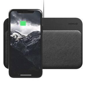 Enjoy the cable-free convenience of fast wireless charging on the move for your compatible smartphone with this compact, lightweight black Qi wireless pad from Nomad. Charges up to 4 devices simultaneously.
