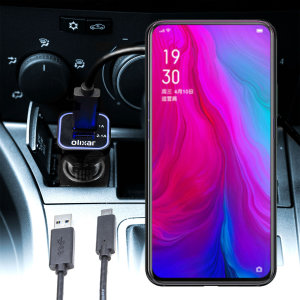 Keep your Oppo Reno 5G fully charged on the road with this compatible Olixar high power dual USB 3.1A Car Charger with an included high quality  1m USB to USB-C charging cable.