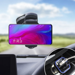 Essential items you need for your smartphone during a car journey all within the Olixar DriveTime In-Car Pack. Featuring a robust one-handed phone car mount and car charger with an additional USB port for your Oppo Reno 5G.